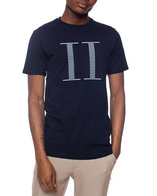 Les Deux Stripe Encore T-Shirt Dark Navy/Sky