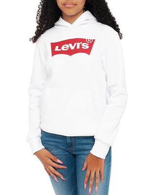 Levis Junior Batwing Screenprint Hoodie White