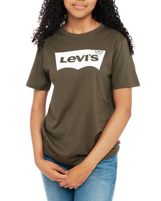 Levis Junior Batwing Tee Olive Night