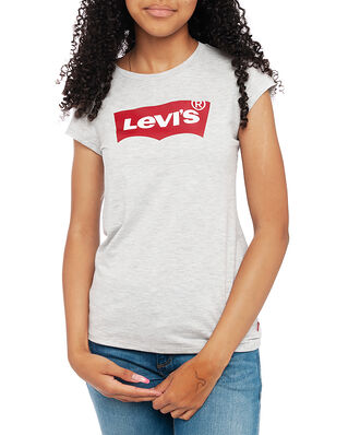 Levis Junior Ss Batwing Tee Light Gray Heather/Red