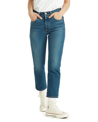 Levis 501 Crop Charleston All Day Med Indigo - Worn In