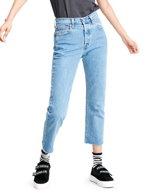 Levis 501 Crop Tango Beats Light Indigo - Worn In