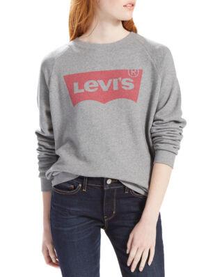 Levis Boyfriend Crewneck Sweatshirt  Fleece Batwing Smokestack