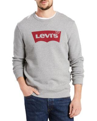Levis Graphic Crew Sweatshirt Fleece Midtone Grey Heather