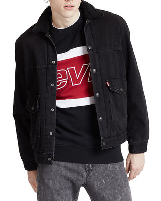 Levis Patched Sherpa Trucker Jacket Ricky Black