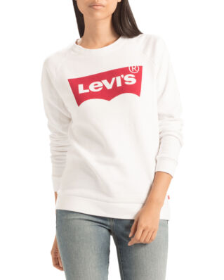 Levis Relaxed Graphic Crew Better Batwing Sweatshirt White