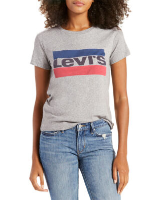 Levis The Perfect Graphic Tee Sportswear Logo Smokestack Heather
