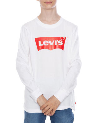 Levis Junior L/S Batwing Tee White