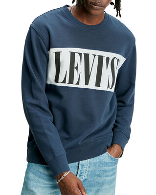 Levis Logo Colorblock Crew Logo Colo Blues