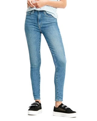 Levis Mile High Super Skinny Better Med Indigo - Worn In