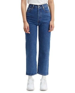 Levis Ribcage Straight Ankle Georgie Med Indigo - Flat Finish
