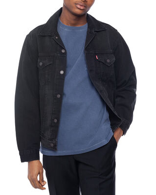 Levis Vintage Fit Trucker V Black Tr Blacks