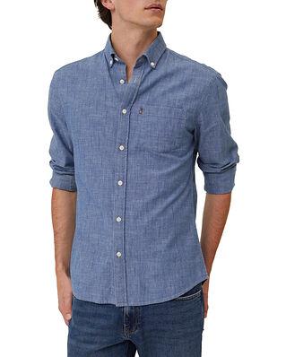Lexington Clive Chambray Shirt Medium Blue Denim