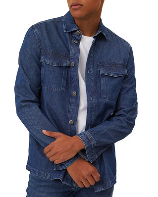 Lexington Miguel Denim Overshirt Medium Blue Denim