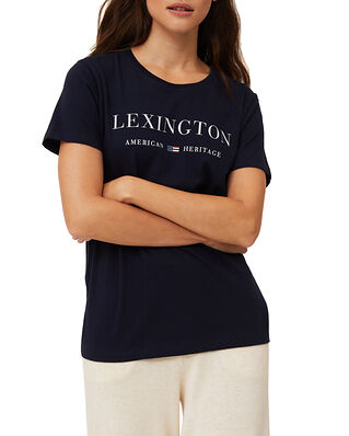 Lexington Vanessa Organic Cotton Tee Dark Blue