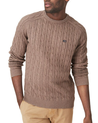 Lexington Andrew Cable Sweater Brown Melange