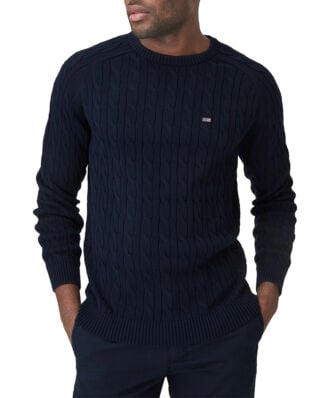 Lexington Andrew Cable Sweater Dark Blue