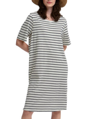 Lexington Blossom Dress White/Blue Stripe