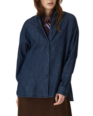 Lexington Edith Denim Shirt Dark Blue Denim