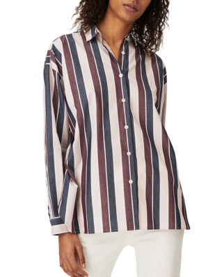 Lexington Edith Poplin Shirt Multi Stripe