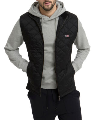 Lexington Gregory Quilted Vest Caviar Black