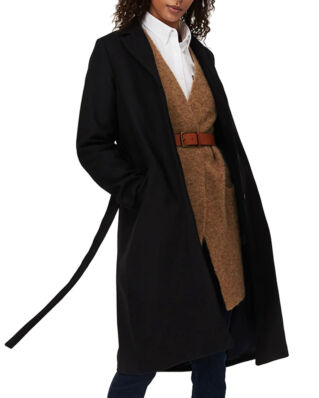 Lexington Heather Coat Black