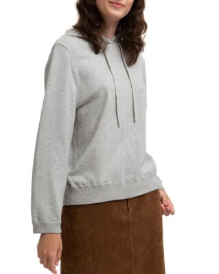 Lexington June Knitted Hoodie Lt Warm Gray Melange