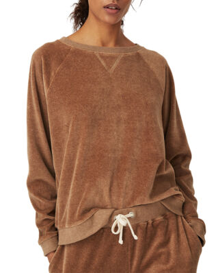 Lexington Martha Velour Sweatshirt Beige Melange