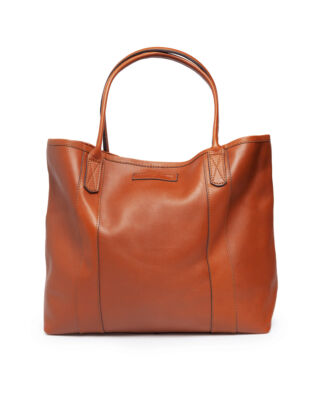 Lexington Mayflower Leather Tote Bag Light Cognac