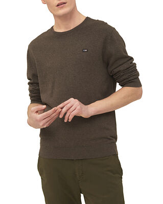 Lexington Bradley Organic Cotton Crew Neck Sweater Brown Melange