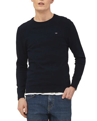 Lexington Bradley Organic Cotton Crew Neck Sweater Dark Blue