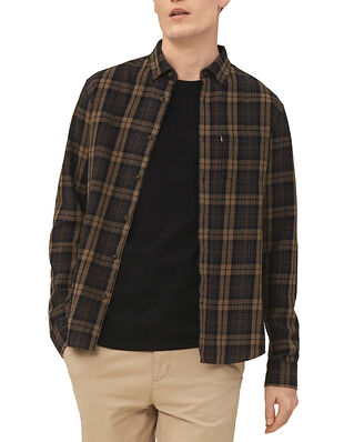 Lexington Clive Checked Shirt Brown Multi Check