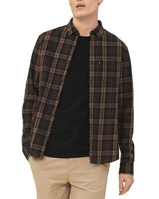 Lexington Clive Checked Shirt Brown Multi Check
