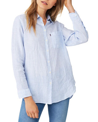 Lexington Isa Linen Shirt Blue/White Stripe