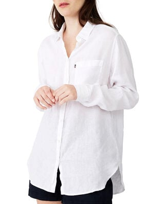 Lexington Isa Linen Shirt White