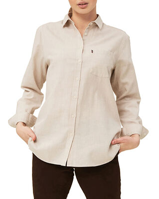 Lexington Isa Lt Flannel Shirt Light Beige Melange