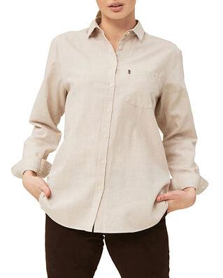 Lexington Isa Lt Flannel Shirt Light Beige Melange
