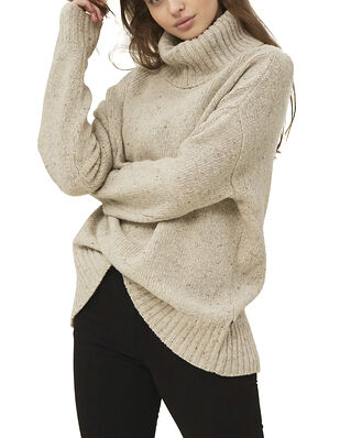 Lexington Lola Merino/Alpaca Blenc Roll Neck Light Beige Melange