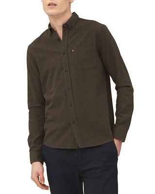 Lexington Peter Lt Flannel Shirt Brown Melange