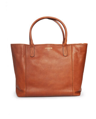 Lexington Willow Leather Tote Brown