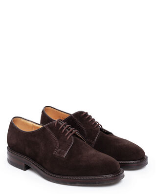 Loake 1880 771DSR Dark Brown Suede Plain Derby