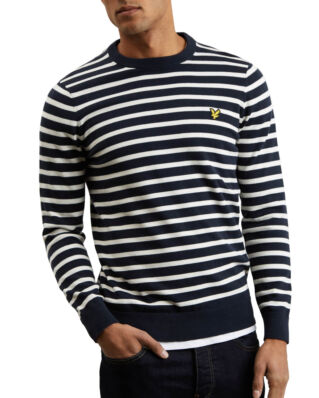 Lyle & Scott  Breton Stripe Jumper Dark Navy