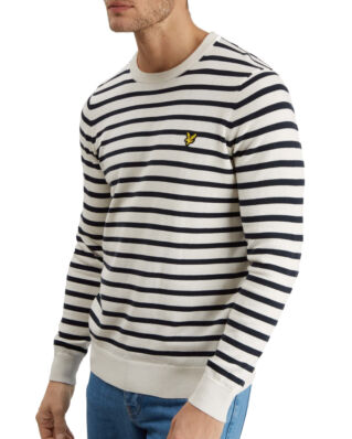 Lyle & Scott Breton Stripe Jumper Snow White