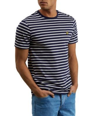 Lyle & Scott Breton Stripe T-shirt Navy/Snow White