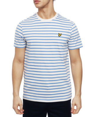 Lyle & Scott Breton Stripe T-shirt Snow White/Cornflower Blue