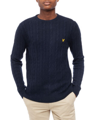 Lyle & Scott Cable Jumper Dark Navy
