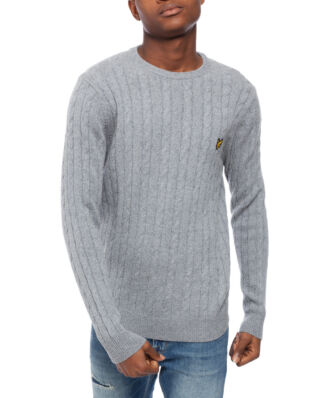 Lyle & Scott Cable Jumper Mid Grey Marl