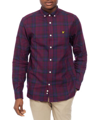 Lyle & Scott Check Flannel Shirt Burgundy