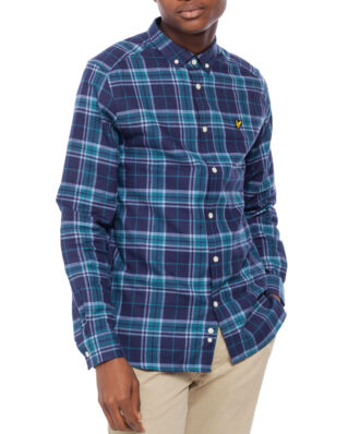 Lyle & Scott Check Flannel Shirt Navy