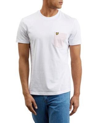 Lyle & Scott Contrast Pocket T Shirt White/Dusky Lilac